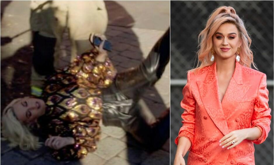 TAKKNEMLIG: Katy Perry (35) viser sin takknemlighet overfor brannmennene på sosiale medier etter hun kollapset under innspillingen av «American Idol». Foto: ABC / NTB Scanpix