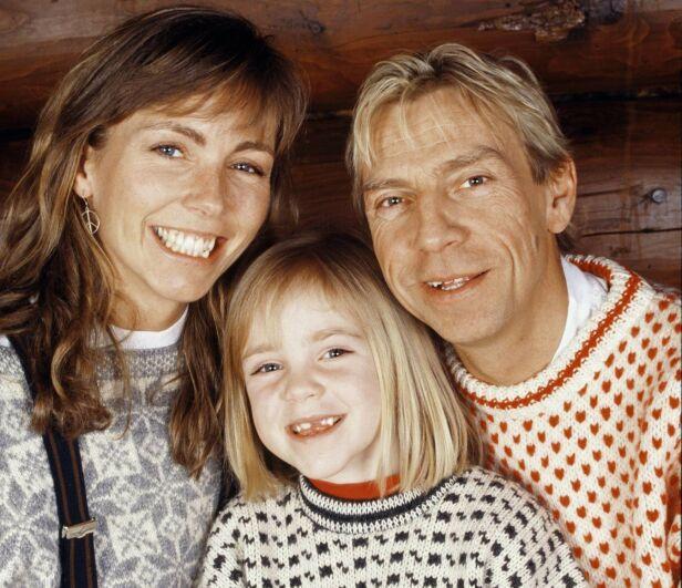 I 1991: Anita og Jahn sammen med datteren Sara. Foto: Tor Kvello