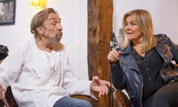 BETTAN: Jahn Teigen og Elisabeth Andreassen under innspillingen av «En hyllest til Jahn Teigen». Foto: TVNorge