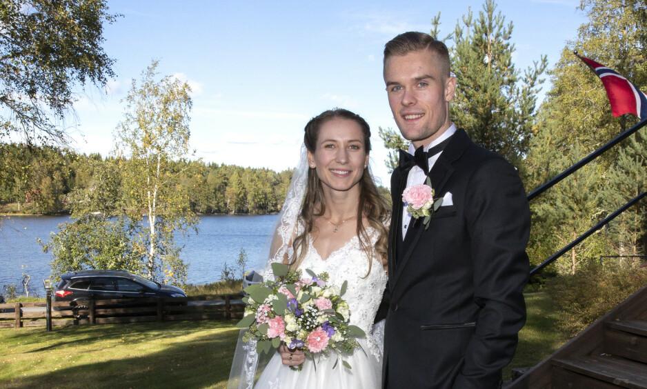 FORELDRE: Filip Ingebrigtsen og kona, Astrid Mangen Ingebrigtsen, fikk en datter. Foto: Andreas Fadum / Se og Hør
