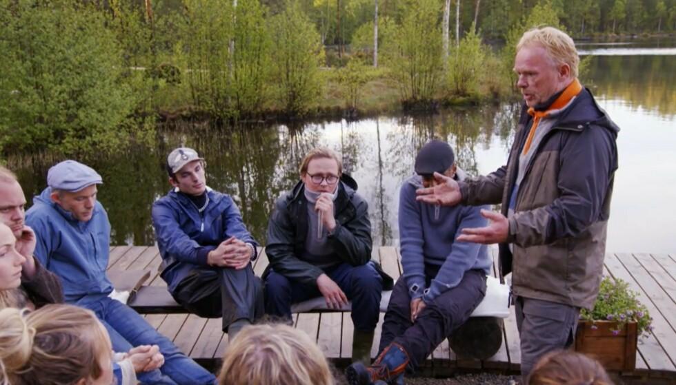 FULL UENIGHET: Per Sandberg blir i tirsdagens episode av «Farmen kjendis» valgt til storbonde. Det får flere til å reagere. Foto: TV 2