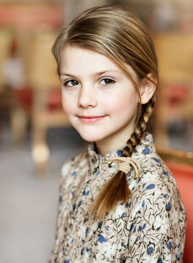 STRÅLER: Prinsesse Estelle fylte åtte år forrige helg. Foto: Linda Broström/Kungl. Hovstaterna