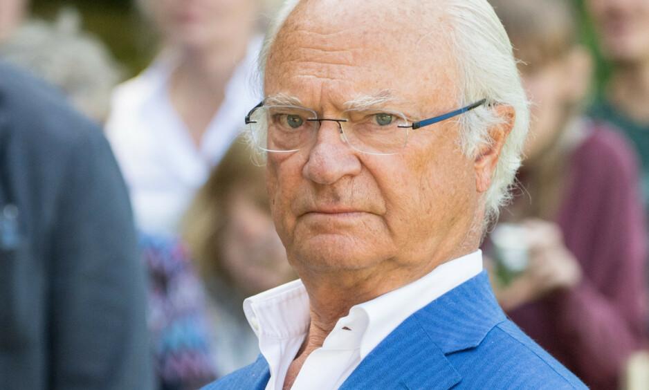 UTEBLE: Kong Carl Gustaf var ikke til stede på prinsesse Estelles fødselsdag forrige helg. Foto: NTB scanpix