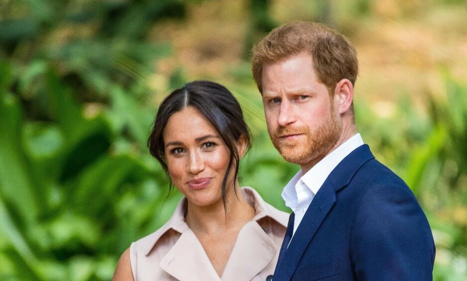 KOMMER TILBAKE: Hertuginne Meghan og prins Harry har ikke vist seg sammen offentlig siden starten av januar. Neste uke returnerer hertuginna til Storbritannia for å delta på en rekke kongelige oppdrag før de offisielt trekker seg tilbake 31. mars. Foto: NTB Scanpix