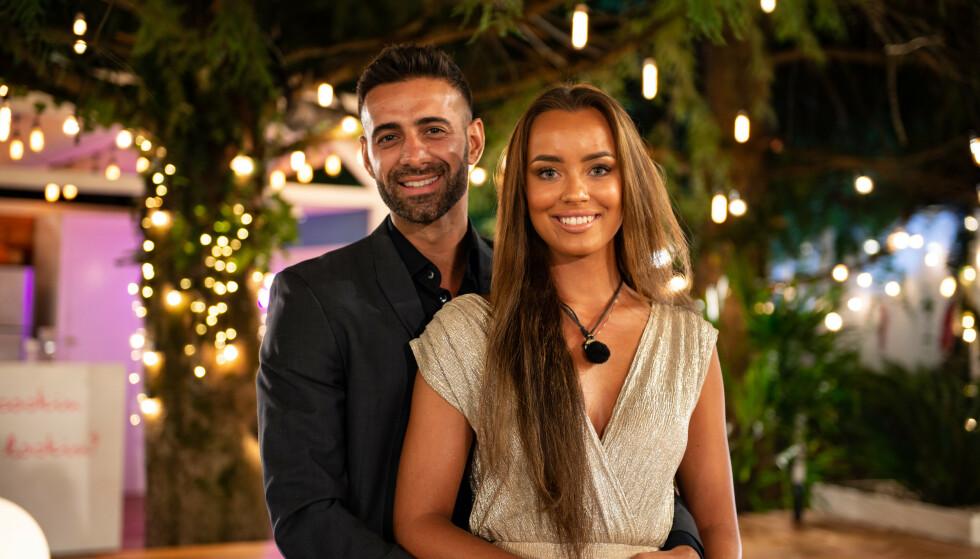 KJÆRESTER: Ali Esmael og Mie Mack Cappelen fant også tonen, og kan røpe at de har vurdert å flytte sammen. Foto: TV 2