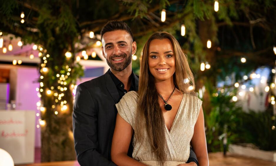 KJÆRLIGHETEN BLOMSTRER: Ali Esmael og Mie Mack Cappelen er blant de som fant kjærligheten på «Love Island». Foto: TV 2