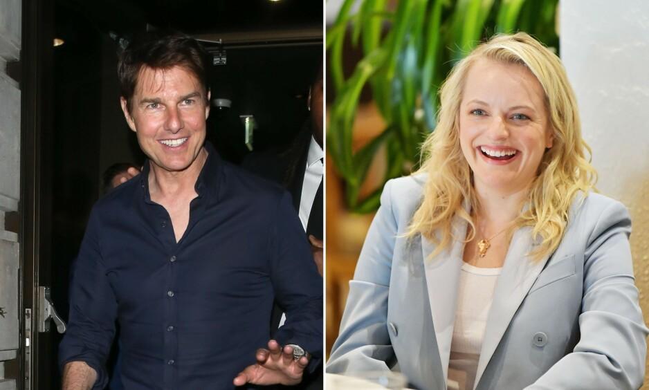 AVKREFTER: Amerikanske medier har hevdet at Elisabeth Moss og Tom Cruise har et forhold. Nå slår førstnevnte tilbake. Foto: NTB Scanpix