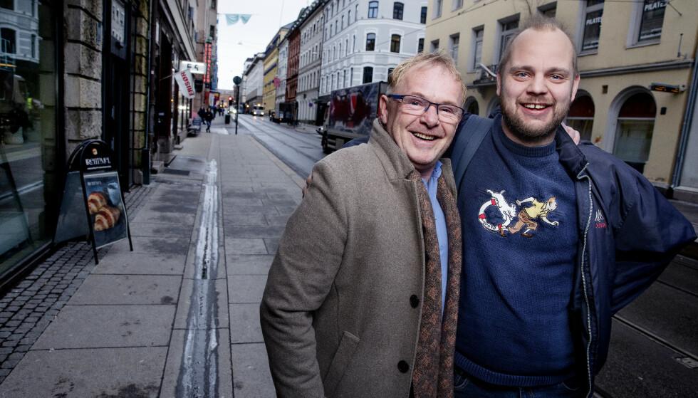 «FARMEN»-VENNER: Per Sandberg og Mímir Kristjánsson overrasket hverandre positivt på «Farmen kjendis». Foto: Kristin Svorte / Dagbladet