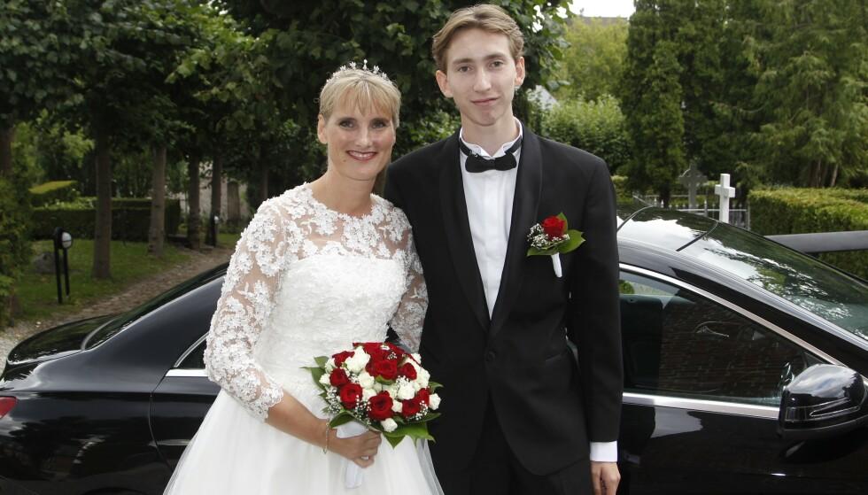 MOR OG SØNN: Camilla og Ludwig av Rosenborg avbildet i 2018, da Camilla giftet seg med Ivan Ottesen. Foto: NTB Scanpix