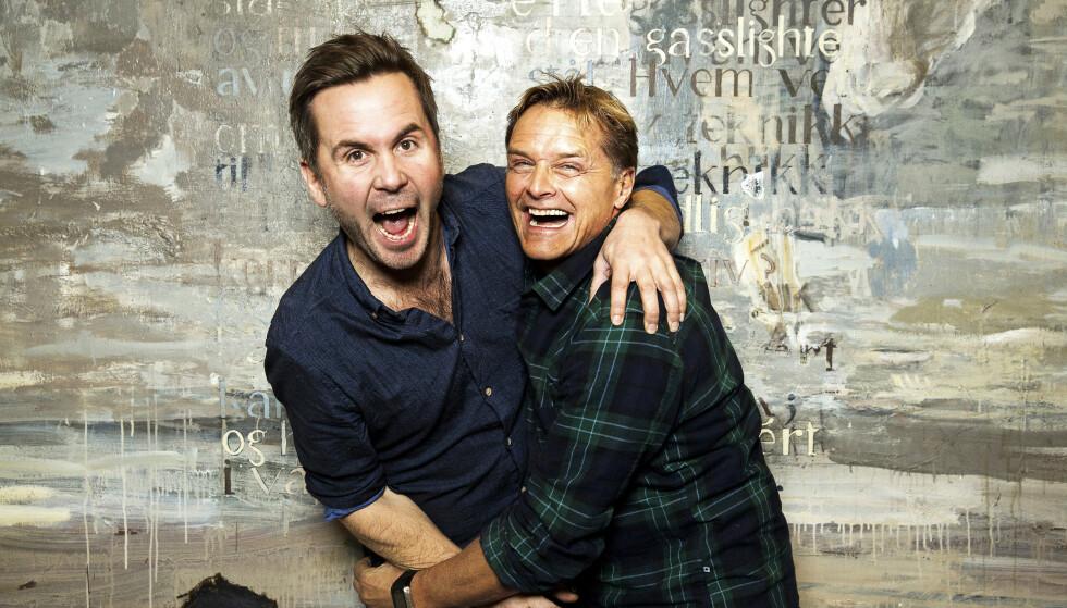 VITTIGE: Kristian Ødegård og Dag Otto Lauritzen er kjent for sin ærlige humor, spenstige påfunn og flauser. Sistnevnte skulle derimot ønske at han kunne spart seg for én hendelse. Foto: Espen Solli
