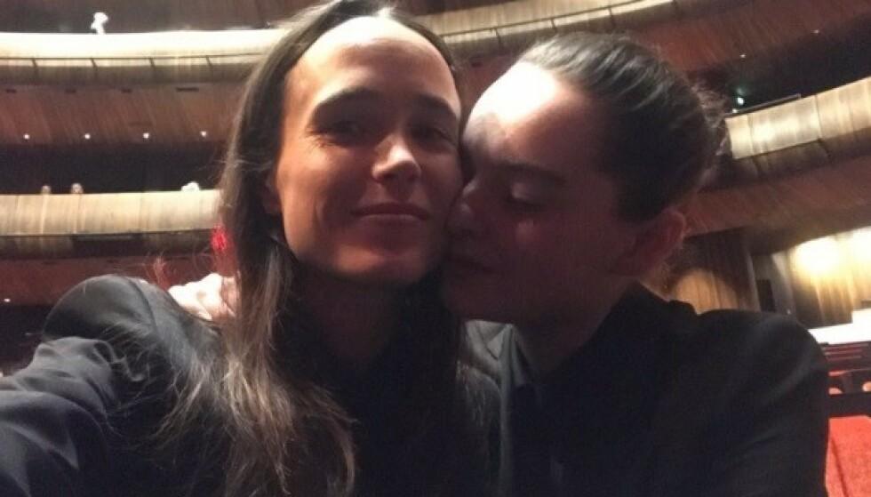 I OSLO: Ellen Page og kona Emma Portner har de siste dagene vært i Oslo. Foto: Skjermdump / Instagram