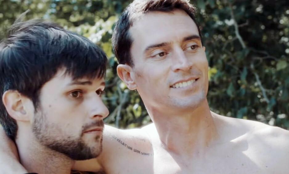 DØD: Nicholas Tucci (t.h.) er har gått bort, 38 år gammel. Her er han avbildet i en scene fra filmen «Long Lost» med kollega Adam Weppler. Foto: NTB Scanpix