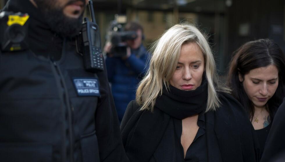 VOLDSSIKTET: Caroline Flack, fotografert mens hun ankom rettslokalene i London lille julaften. Foto: NTB Scanpix