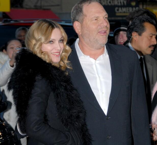 KRYSSET GRENSER: Madonna mener Harvey Weinstein har krysset mange grenser opp gjennom årene. Foto: NTB scanpix