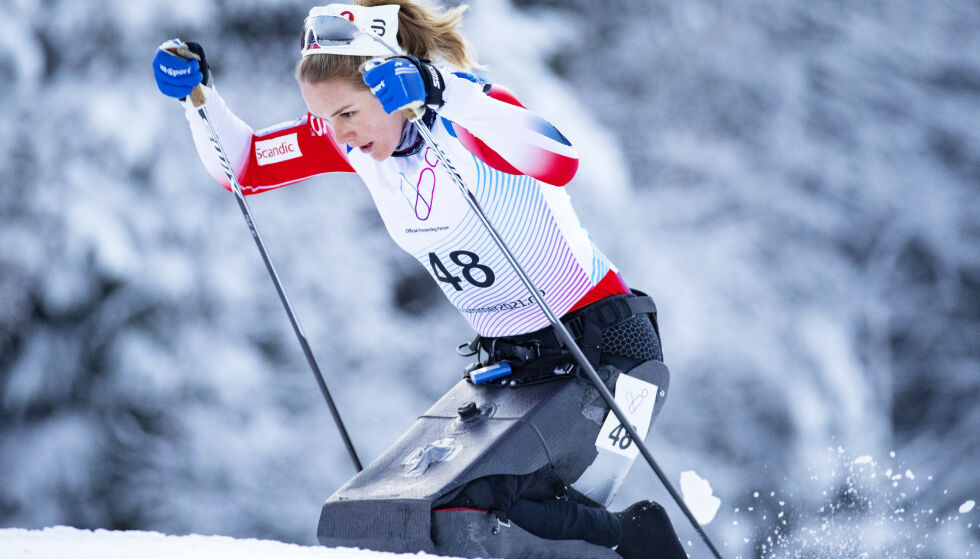 OFFENSIV: Birgit er på paralandslaget i langrenn, samtidig som hun trener beinhardt fram mot Sommer-OL der hun skal delta i roing. Foto: NTB scanpix