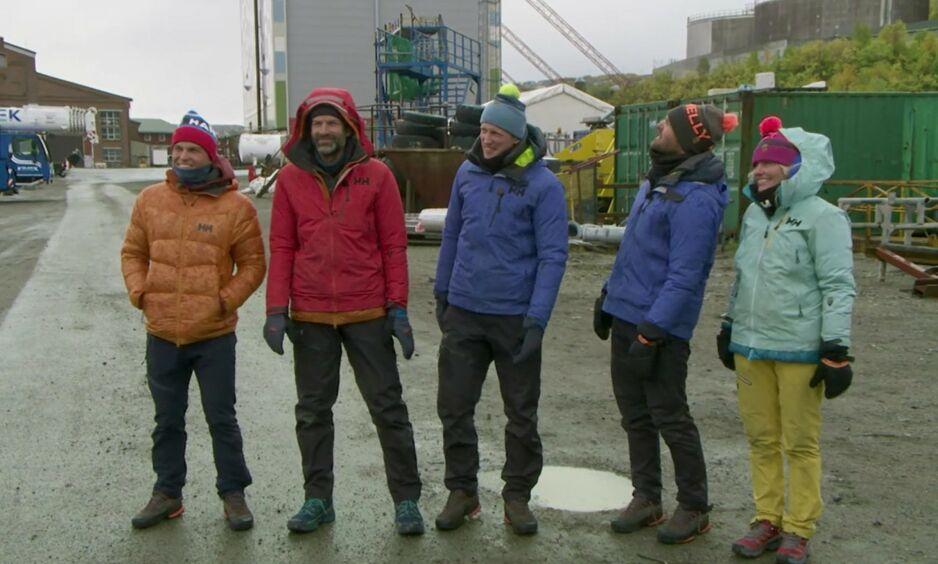 UTE: I kveld var det Mia Hundvin som måtte forlate «71 grader nord - Norges tøffeste kjendis», etter at hun tapte mot Jon Almaas. Foto: Skjermdump / TVNorge