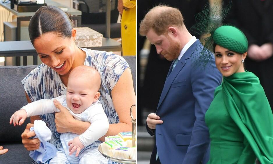 BLE HJEMME: Prins Harry og hertuginne Meghan var nylig i Storbritannia, men sønnen Archie ble værende i Canada. Foto: NTB Scanpix