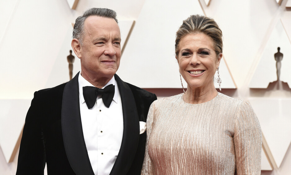 BLE SMITTET: Hollywood-skuespillerne Tom Hanks og Rita Wilson er skrevet ut av sykehuset etter å ha blitt smittet av coronaviruset. Foto: NTB Scanpix