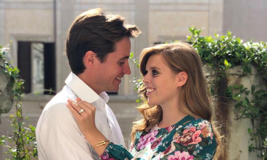 AVLYSER FESTEN: Prinsesse Beatrice og forloveden skulle etter planen ha arrangert en hagefest i anledning bryllupet sitt 29. mai i år. Nå er festen avlyst, grunnet coronaviruset. Foto: NTB Scanpix