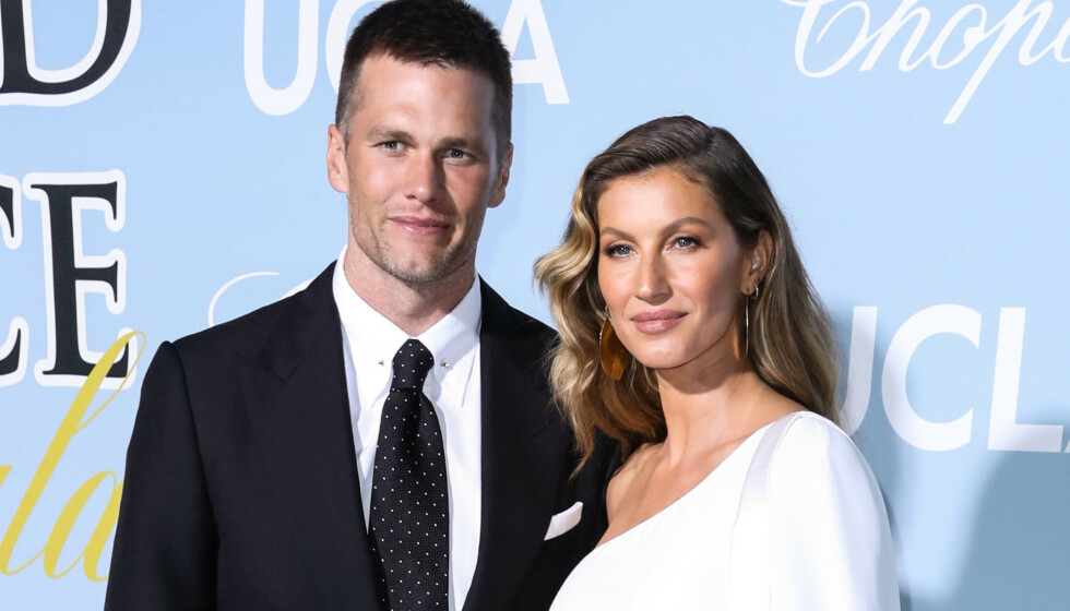 PENT PAR: Gisele Bündchen er gift med NFL-proffen Tom Brady. Her er de sammen under et event i Beverly Hills i fjor vår. Foto: Xavier Collin/Image Press Agency/Splash News / NTB