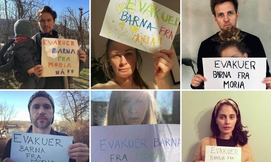 ENGASJEMENT: En rekke kjendiser har tatt til sosiale medier for å be regjeringen hjelpe barna i Moria. Foto: Skjermdump, Instagram