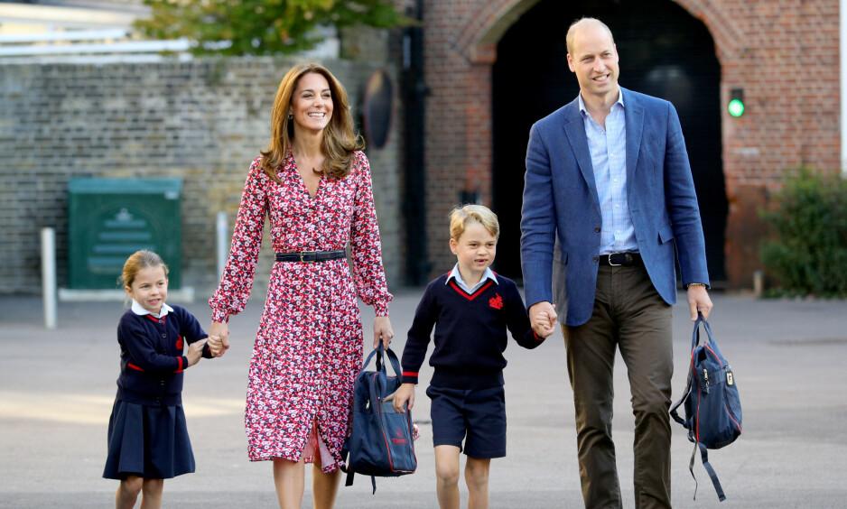 MORSDAG: Hertuginne Kate og prins William er foreldre til prinsesse Charlotte og prins George. Paret har også sønnen prins Louis. Foto: NTB Scanpix