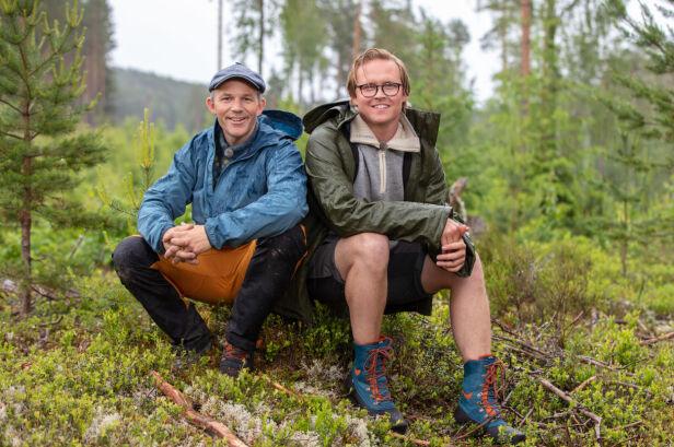 TØFF KONKURRANSE: Erik Alfred Tesaker og Vidar Villa møttes søndag til en heftig tvekamp. Foto: Alex Iversen / TV 2