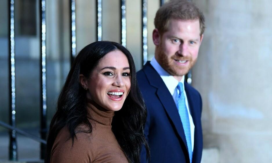 NY JOBB: I slutten av denne måneden legger hertuginne Meghan og prins Harry sine kongelige plikter bak seg og fortsetter på sitt nye liv. Foto: NTB Scanpix