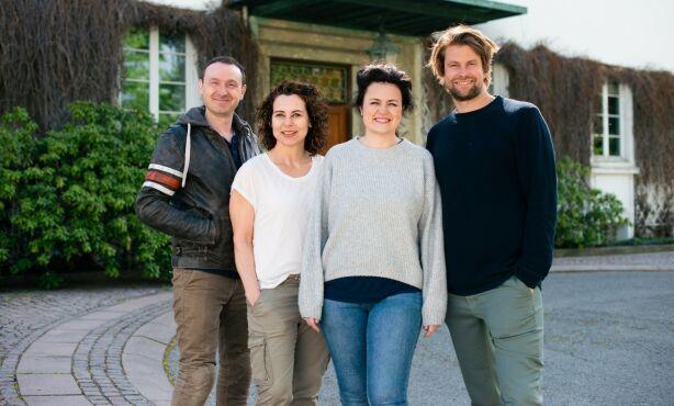 EKSPERTER: Jens Andreas Huseby, Lene Pettersen, Catrin Sagen og Per-Magnus Thompson utgjør ekspertpanelet som setter parene sammen. Foto: TVNorge