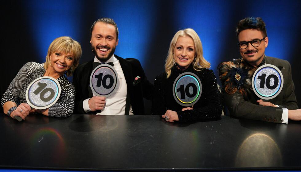 DOMMERNE: Her er Trine Dehli Cleve, Egor Filipenko, Merete Lingjærde og Tore Petterson avbildet i fjor. FOTO: Espen Solli / TV 2