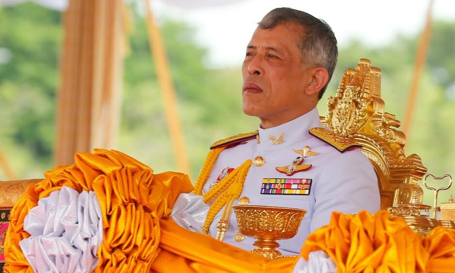 SKAPER MISNØYE: Kongen av Thailand Maha Vajiralongkorn Bodindradebayavarangkun skal befinne seg i en selvpålagt karantene på et luksushotell i Tyskland. Med seg har han blant annet tjue «elskerinner». Foto: NTB Scanpix