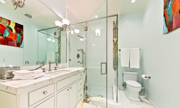 DUSJ: Mulighetene er mange, da huset inneholder flere bad. Foto: NTB scanpix