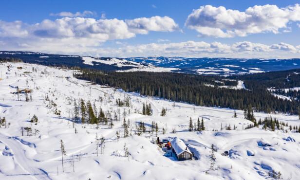 FLOTT: Hytta ligger i Slåseterlia fjellgrend. Foto: Geir Olsen