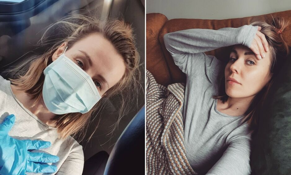 SYK: Anette Marie Antonsen er smittet av coronaviruset. På Instagram deler hun åpent om eget sykdomsforløp. Foto: Privat