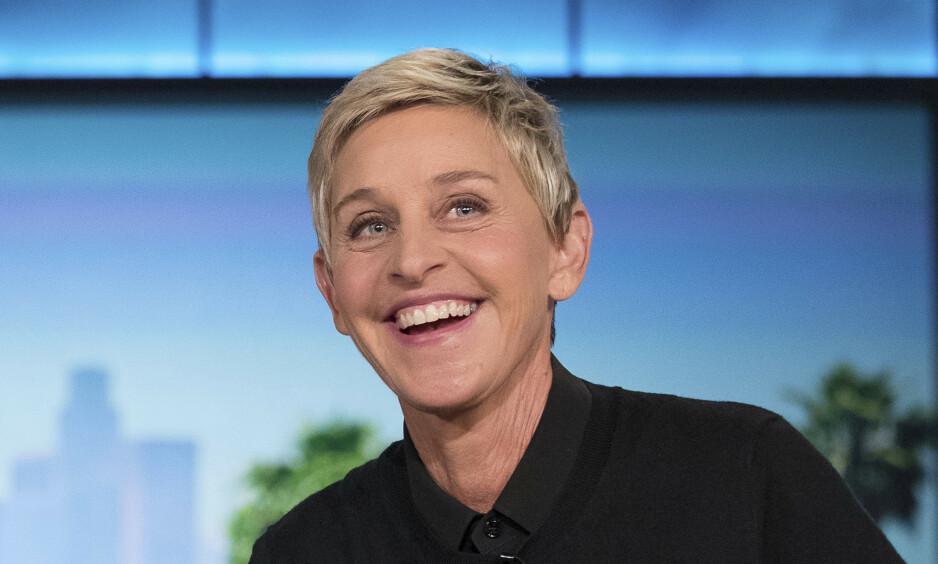 FÅR KJEFT: Ellen DeGeneres (62) har den siste tiden stått i flere stormer. Nå hagler kritikken igjen, etter at hun kom med en noe uheldig corona-spøk. Foto: NTB Scanpix