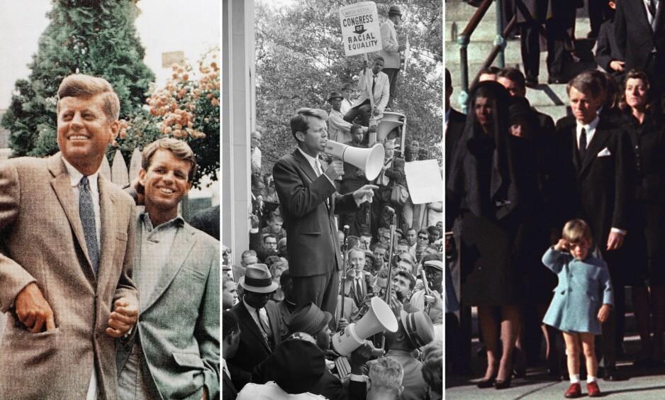 TRAGEDIER: Det er ingen tvil om at Kennedy-familien har opplevd flere tragedier enn de fleste. Blant annet ble to av brødrene brutalt skutt og drept. Foto: NTB Scanpix