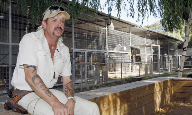 I FENGSEL: Joe Exotic er dømt til 22 år i fengsel. Her er han avbildet i forbindelse med et intervju for noen år siden. Foto: NTB Scanpix