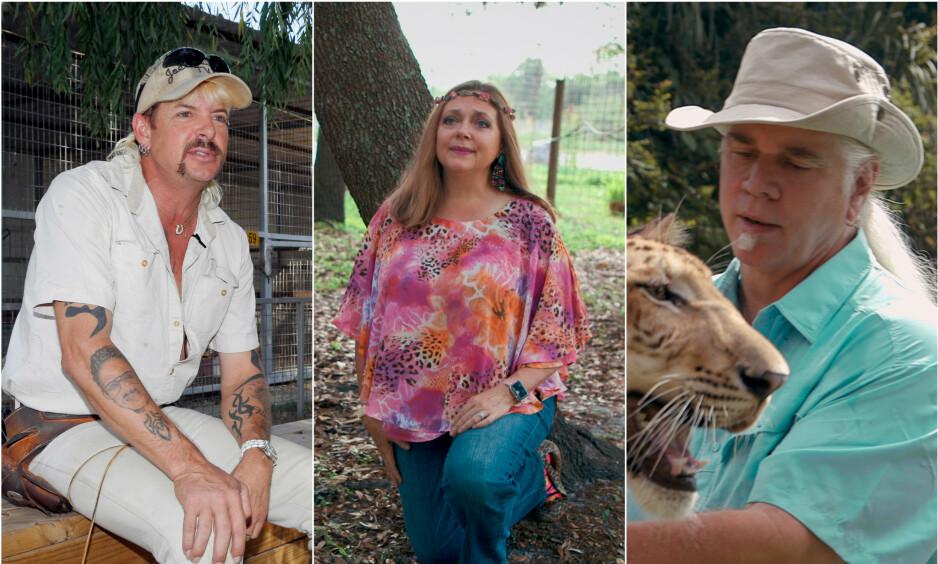 I FENGSEL: Joe Exotic ble dømt til 22 års fengsel for 17 tilfeller av dyremishandling, samt for to tilfeller hva gjelder å ha hyret inn leiemorder. Foto: NTB Scanpix / Netflix