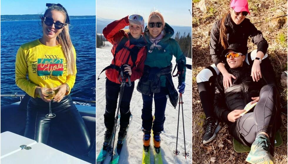 KOSER SEG: Carina Dahl, kronprinsfamilien og Atle Pettersen er blant dem som har latt fansen få et innblikk i den koselige påskefeiringen. Foto: Privat