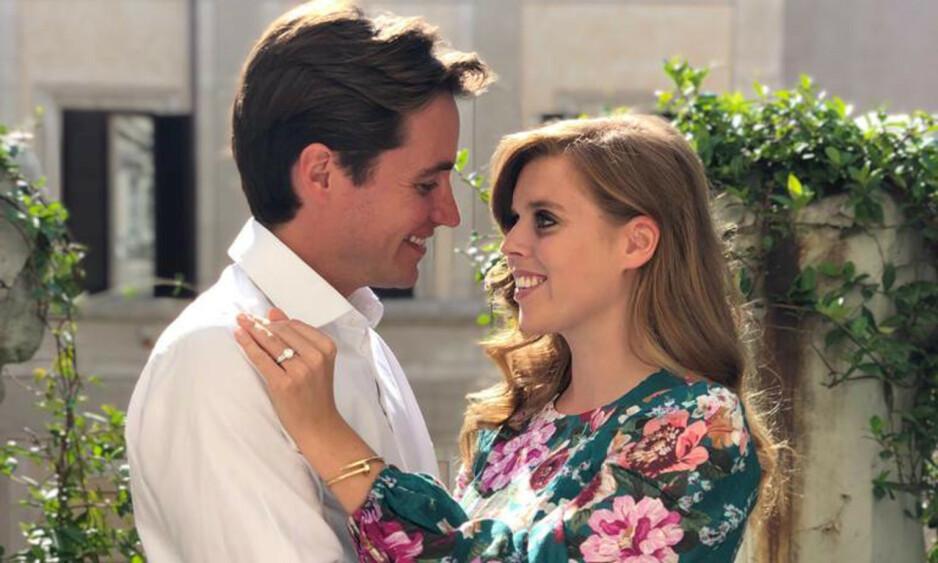 <strong>FORLOVET:</strong> Prinsesse Beatrice og Edoardo Mapelli Mozzi skulle egentlig ha giftet seg neste måned. Foto: NTB Scanpix