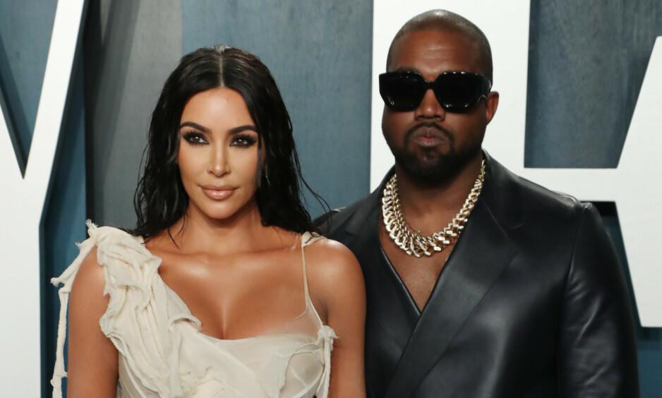 ÅPEN: I et nytt intervju med GQ forteller Kanye West om fortida med alkoholavhengighet. Her avbildet med kona Kim Kardashian West. Foto: NTB Scanpix
