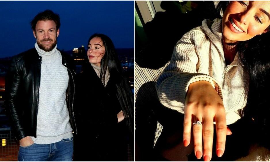 FORLOVET: Søndag kveld røper tidligere programleder Kjell-Ola Kleiven at han har forlovet seg med samboeren Benedicte Angelica Tehrani. Foto: Privat