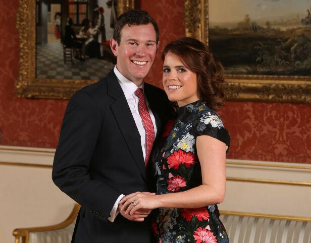 KONGELIG FORLOVELSE: Dette bilde ble tatt på Buckingham Palace da prinsessen og Jack annonserte i januar 2018 at de hadde forlovet seg. Foto: NTB Scanpix