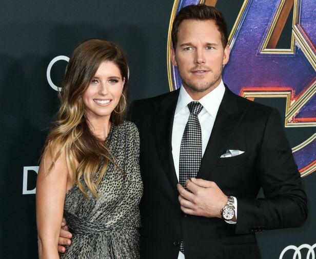 BABYKLARE: Helt siden de giftet seg i juni i fjor skal Katherine og Chris ha vært klare for å bli foreldre sammen. Her på den røde løperen i april i fjor. Foto: NTB Scanpix