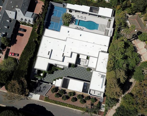 SVINDYRT: Kylie Jenners nye investering har en verdi på drøye 380 millioner kroner. Her er huset sett ovenfra. Foto: NTB scanpix