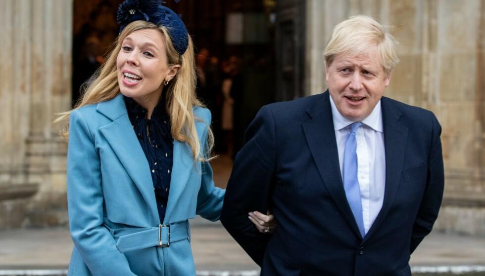 FORELDRE: Boris Johnson og kjæresten har fått en sønn. Foto: NTB Scanpix