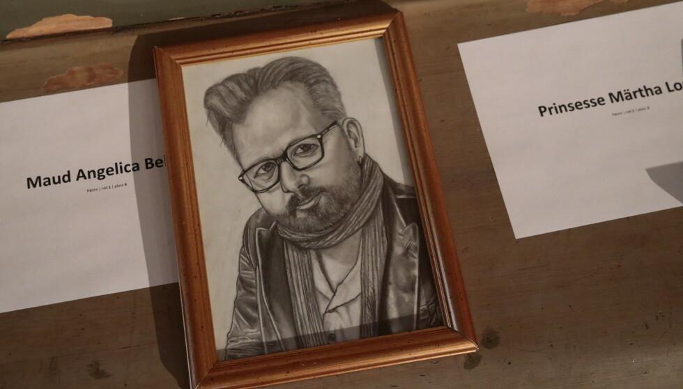 <strong>KUNSTNER:</strong> Maud Angelica har tegnet dette portrettet av faren. Foto: NTB Scanpix