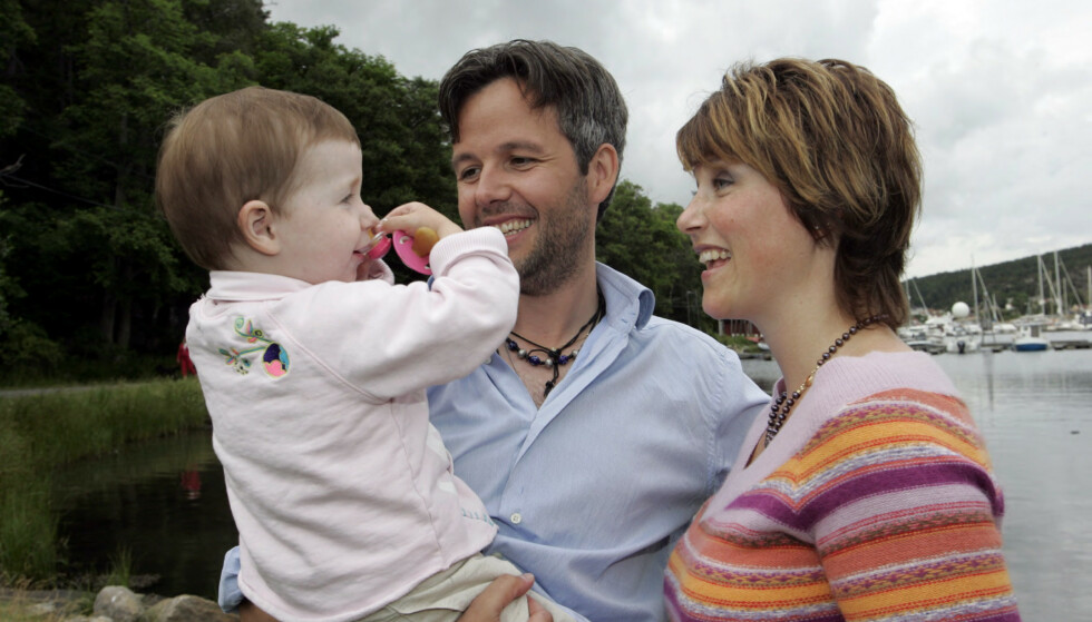 <strong>FØRSTE BARN:</strong> I dag er det 17 år siden Märtha Louise og Ari Behn ble foreldre for første gang. Det er også den første bursdagen Maud Angelica feirer uten pappa. Her i 2005. Foto: NTB Scanpix