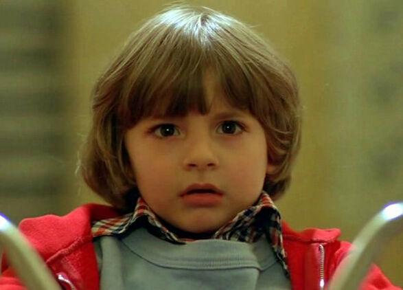 FORSVANT SPORLØST: Danny Lloyd avbildet i filmklassikeren «Ondskapens hotell» i 1980. Foto: NTB Scanpix