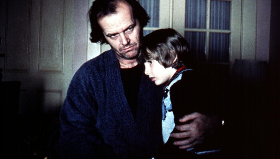 KOLLEGAER: Her er Danny Lloyd sammen med Jack Nicholson i filmklassikeren. Foto: NTB Scanpix